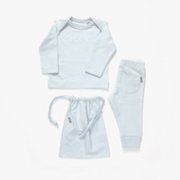Imps & Elfs Long Sleeve Pajama Two Pieces, Starlight Blue