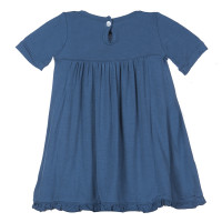 Kickee Pants Basic Short Sleeve Swing Dress, Twilight (w/ Keyhole and Button Closure)