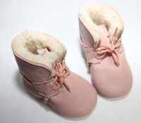 Easy Peasy Hand-crafted Butter-Soft Leather Shoes, Light Pink