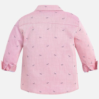 Mayoral Boys Dog Print Twill Shirt, Rose