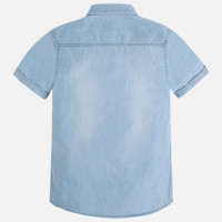 Mayoral Boys Short Sleeve Denim Shirt, Bleached