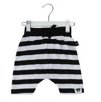 Huxbaby Organic Cotton Drop Crotch Shorts, Stripes