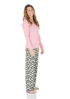 Kickee Pants Print Long Sleeve One Tee & Pant Set, Stone Geese