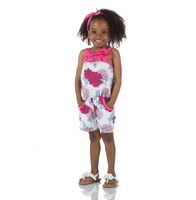 Kickee Pants Print Flower Romper with Pockets - Natural Peony