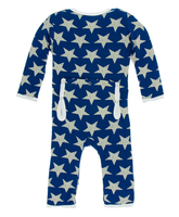 Kickee Pants Print Coverall with Zipper - Vintage Stars