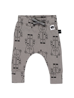 Huxbaby Organic Cotton Robo Bear Drop Crotch Pant