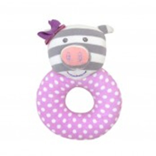 Apple Park - Organic Cotton Penny the Pig Teething Rattle