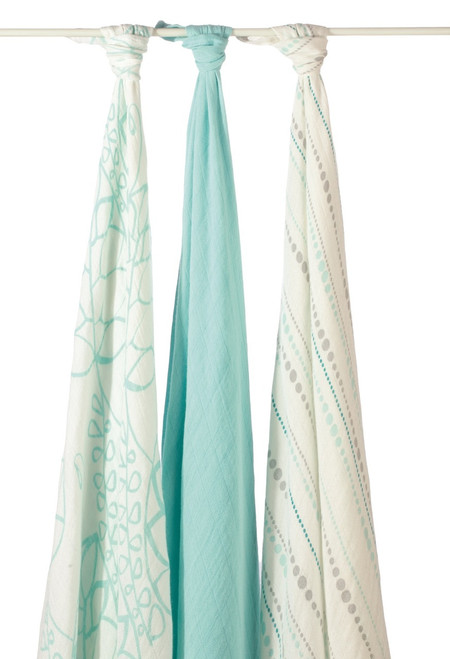 aden + anais Bamboo Muslin Multi Purpose Swaddles, Azure Beads