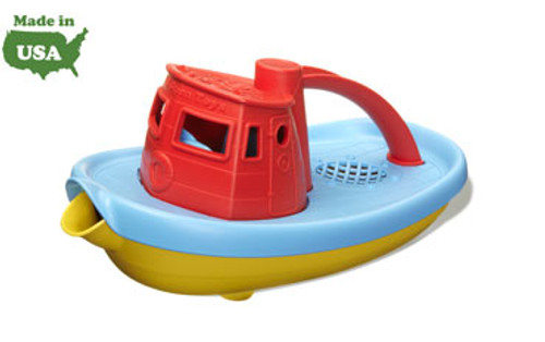 Green Toys Tug Boat, Red Top