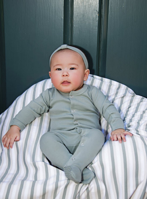L'ovedbaby 100% Organic Cotton Footed Overall - Seafoam