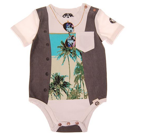 MINI SHATSU-Summer Vest, Short Sleeve Bodysuit front