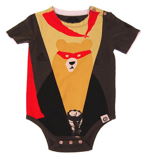 Mini Shatsu Super Camper Short Sleeve Bodysuit front