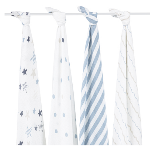 aden+anais Classic Cotton Muslin Multi Purpose Swaddles, Rockstar