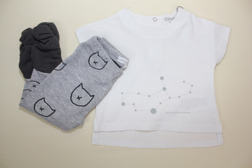 Bellybutton T-Shirt 1/4 Sleeves- White