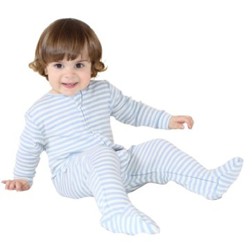 Woolino Merino Wool Sleeper Blue 12-18M