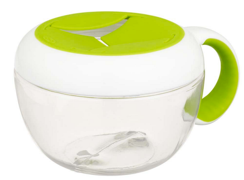 OXO TOT Flippy Snack Cup With Travel Cover, Green