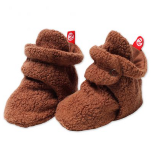 Zutano Cozie Fleece Bootie - Chocolate - I