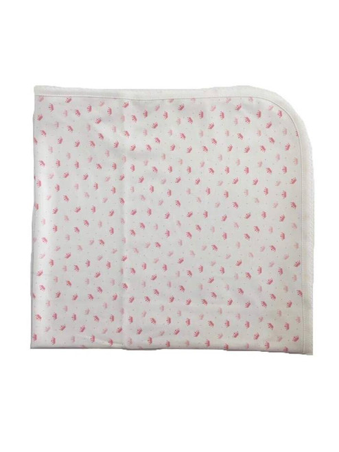 Kissy Kissy 100% Peruvian Pima Cotton Royal Baby Print Blanket, Pink