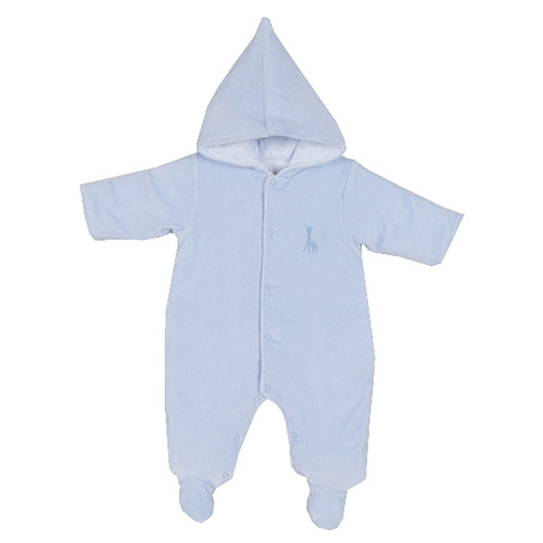 Kissy Kissy Twilight Sophie Velour Footed Bunting, Light Blue