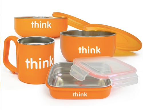 ThinkBaby, The complete BPA-Free Feeding Set, Orange