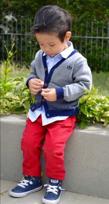 Mayoral Boys Knitted Cardigan, Iron