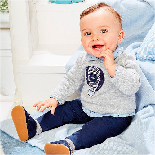 Mayoral Baby Boys Jumper Trouser Onesie, Navy