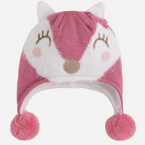Mayoral Baby Girls Sweet Fox Hat, Blush
