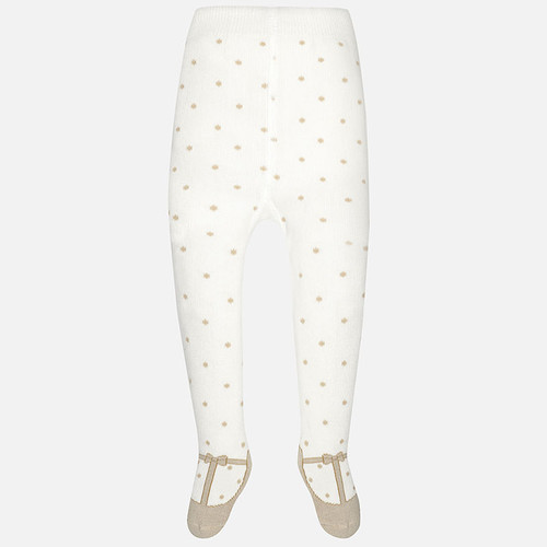 Mayoral Baby Girls Polka Dots Tights, Almond