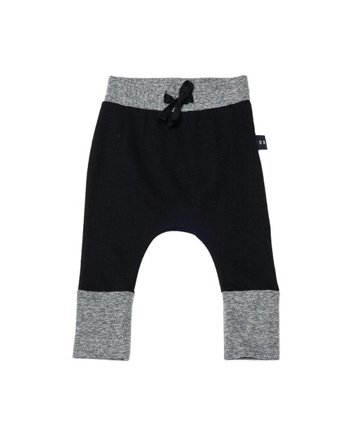 Huxbaby Organic Cotton High Cuff X Pant, Black