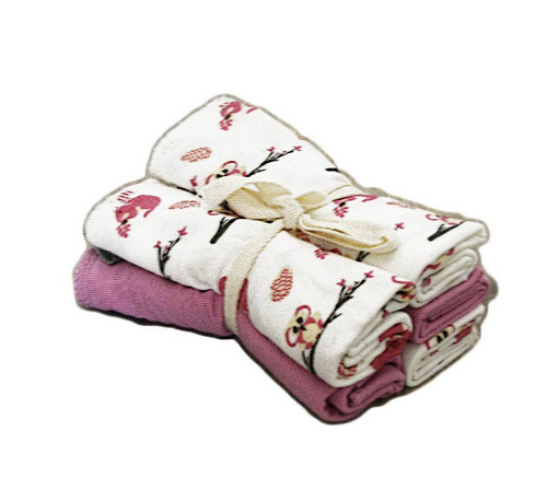 Kyte Printed Washcloth Pack of 5, Blossom/Park
