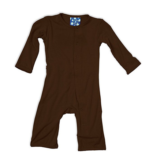 Kickee Pants Basic Coverall, Bark