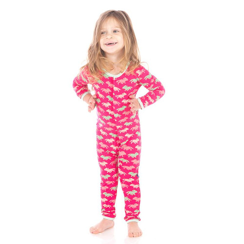 Kickee Pants Fitted Coverall, Prickly Pear Desert Fox