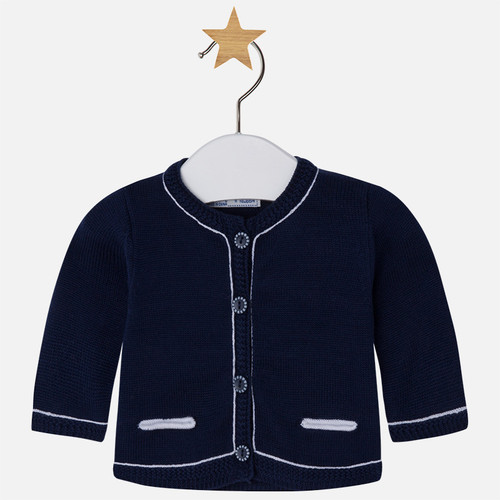Mayoral Baby boy jacket style cardigan, Navy