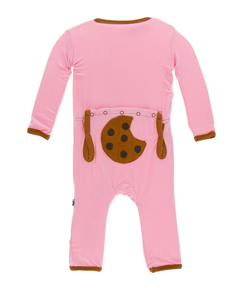 Kickee Pants Applique Coverall, Lotus Cookie