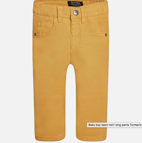 Mayoral Baby Boys Twill Long Trousers - Turmeric