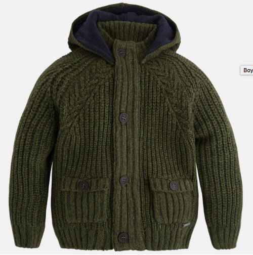 Mayoral Boys Knitted Pullover, Green