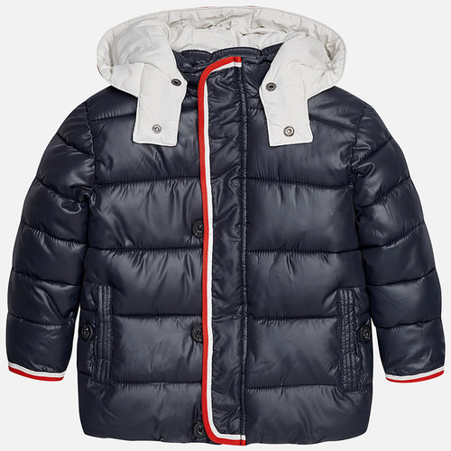 Mayoral Boys Padded Coat, Titanium