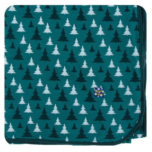 Kickee Pants Christmas Large Throw Blanket - Cedar Christmas Trees