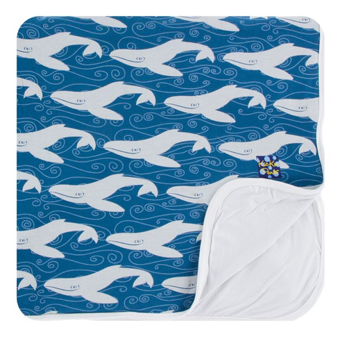 Kickee Pants Print Toddler Blanket - Twilight Whale