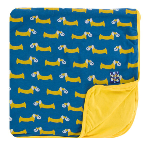 Kickee Pants Print Toddler Blanket - Twilight Pretzel Pup