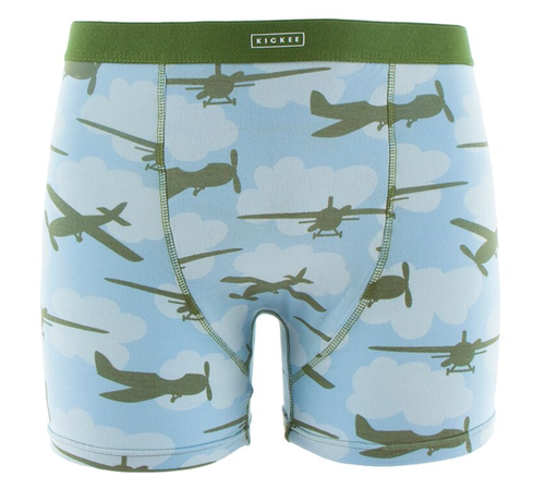 Kickee Pants Print Men's Boxer Brief - Pond Airplanes