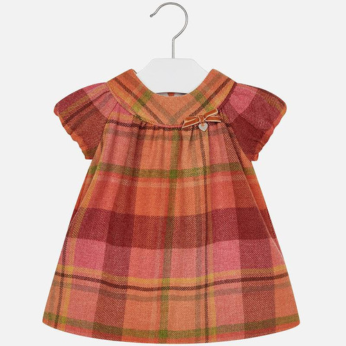 Mayoral Baby Girls Flannel Dress - Pumpkin