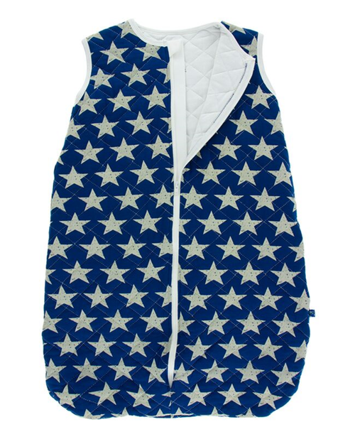 Kickee Pants Printed Quilted Sleeping Bag - Vintage Stars with Natural