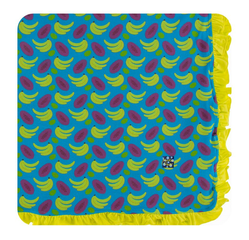 Kickee Pants Print Ruffle Toddler Blanket - Tropical Fruit