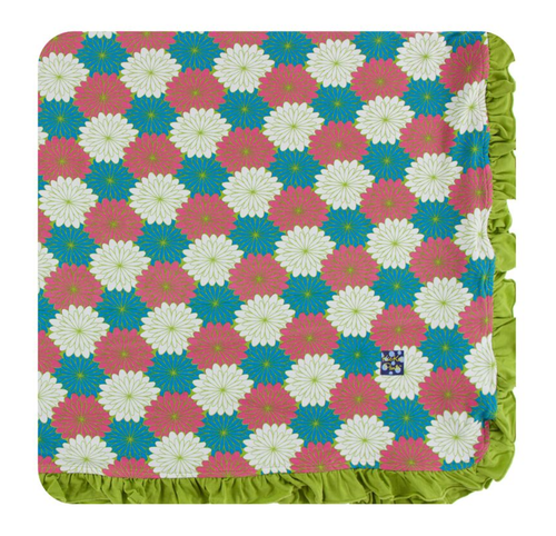 Kickee Pants Print Ruffle Toddler Blanket - Tropical Flowers