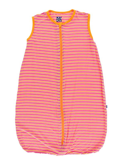 Kickee Pants Printed Lightweight Sleeping Bag - Flamingo Brazil Stripe