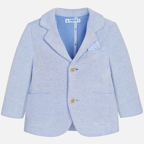 Mayoral Baby Boys Knit Blazer - Lightblue