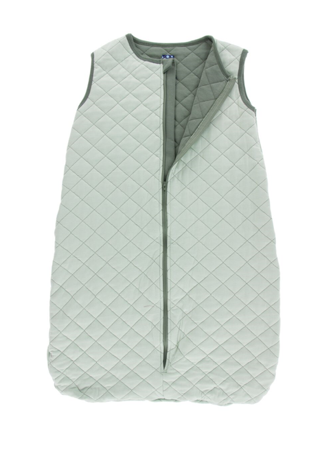 Kickee Pants Printed Quilted Sleeping Bag - Aloe with Succulent