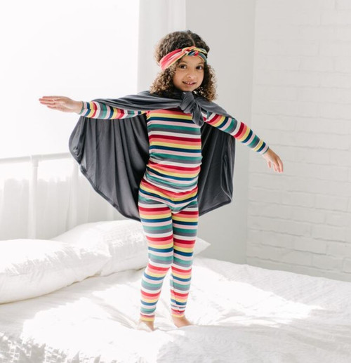 Kickee Pants Print Long Sleeve Pajama Set - Bright London Stripe