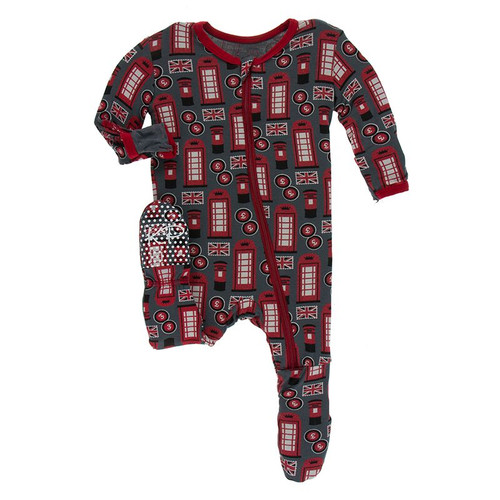 Kickee Pants Print Footie with Zipper - Life About Town